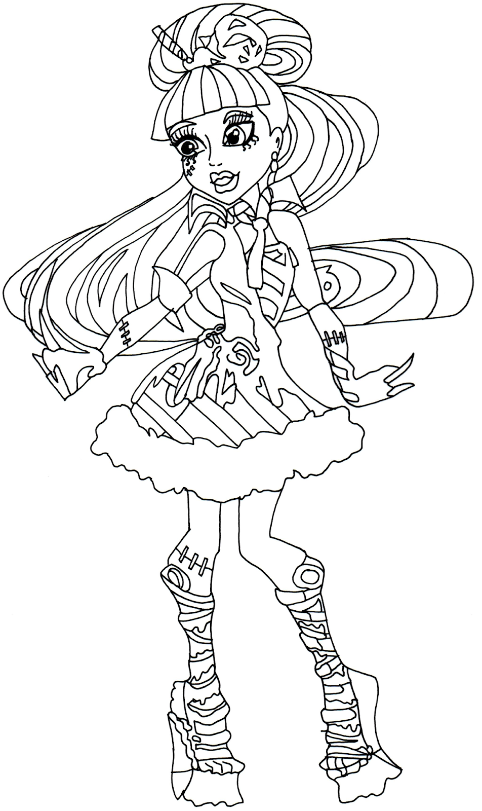 monster high coloring pages frankie stein - free printable monster high coloring pages january 2014