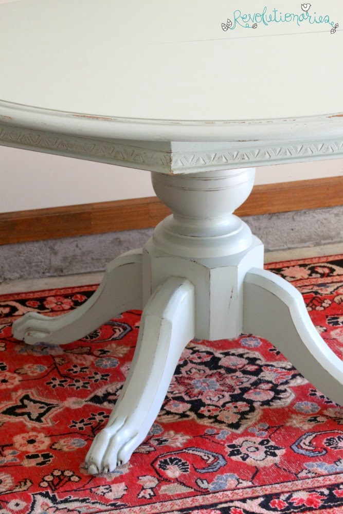 Before and After: The Claw Foot Dining Table!