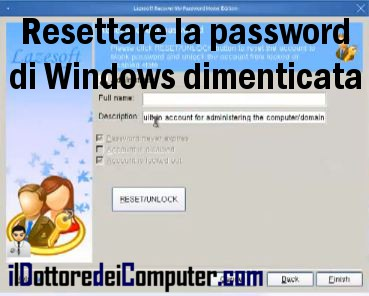 ho dimenticato la password di windows 7 starter