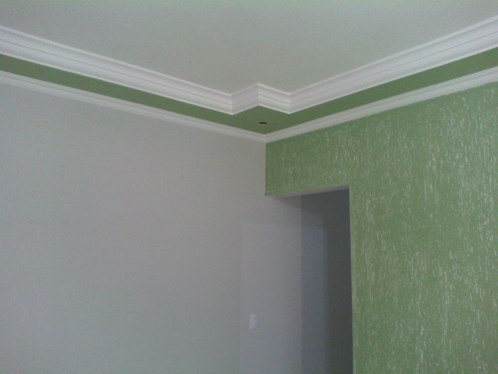 Pinturas E Outras Coisas Parede Com Grafiato Fundo Branco E Verde  -> Fotos De Paredes Com Grafiato