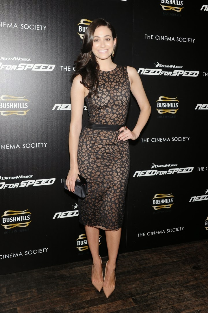 Emmy Rossum Wears Vera Wang To The Need For Speed NYC