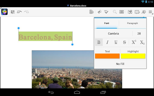 Application Name : Quickoffice - Google Apps