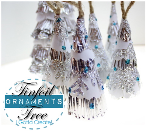 "alt=""tinfoil tree ornaments"""