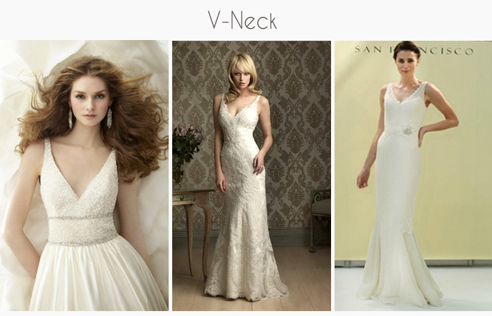 V-Neck wedding gowns and dresses