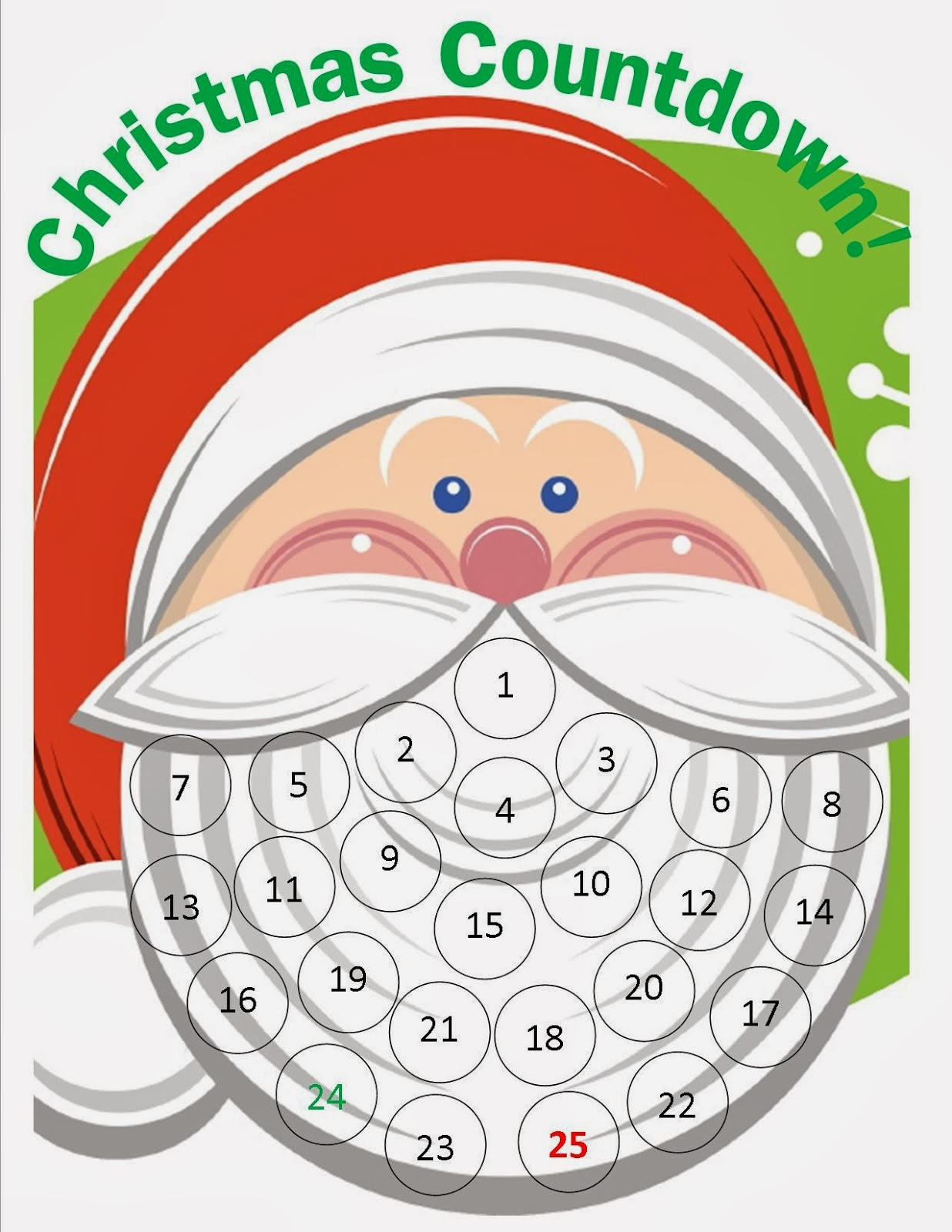 Impertinent image intended for printable christmas countdown