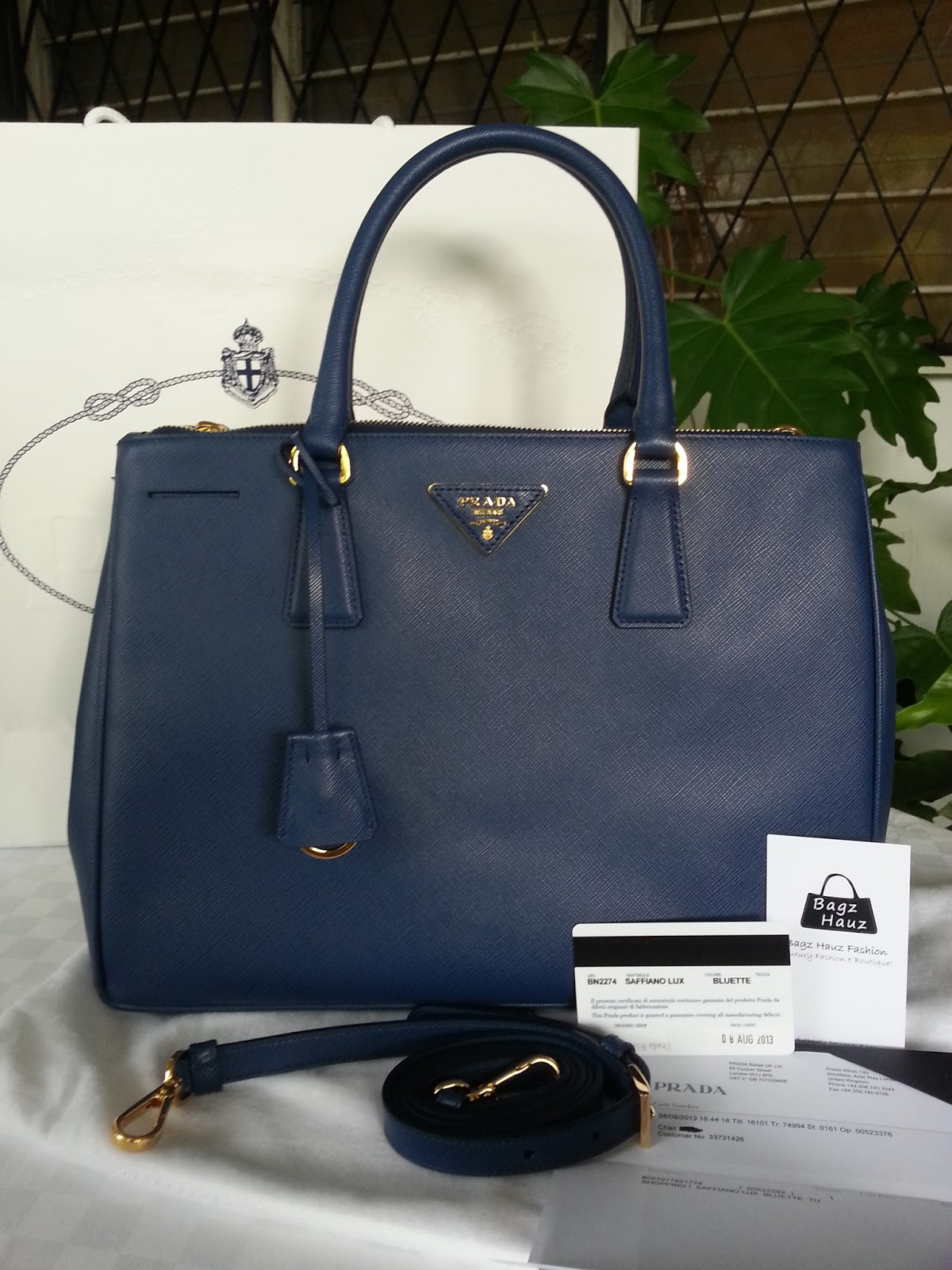 cf51deb4721c ... germany prada bn2274 saffiano lux leather tote color bluette c6340 e7a5f
