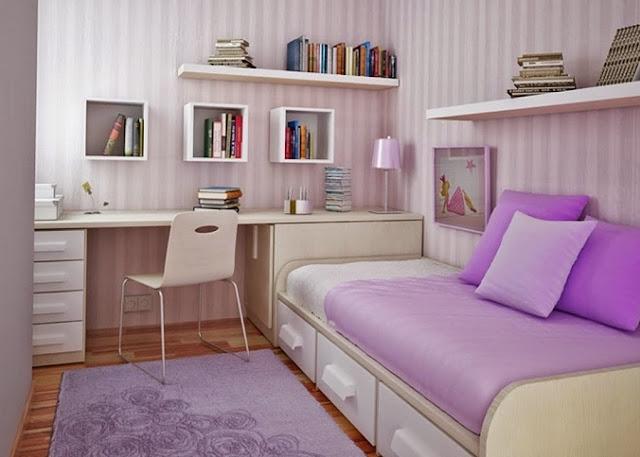 Teenage girl bedroom designs purple