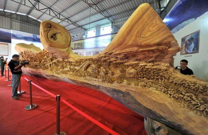 Ahşap işçiliğinin ustası çinli zheng chunhuy