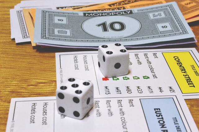 Monopoly Property, Money and Dice