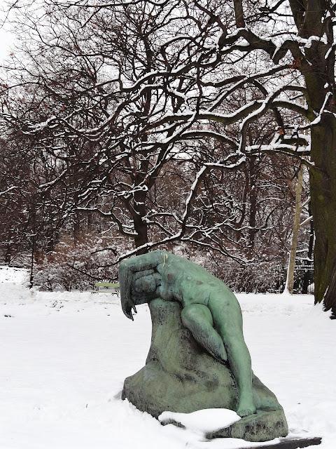Zima w parku Ujazdowskim