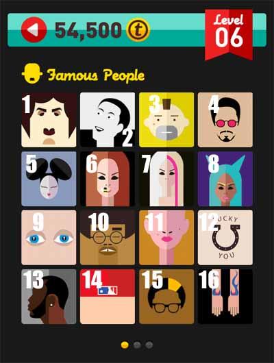 Icon Pop Quiz Famous People Level 6