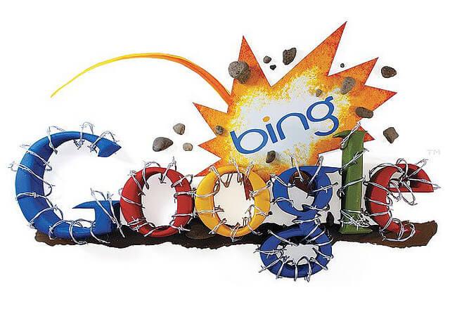 Bing mengalahkan Google
