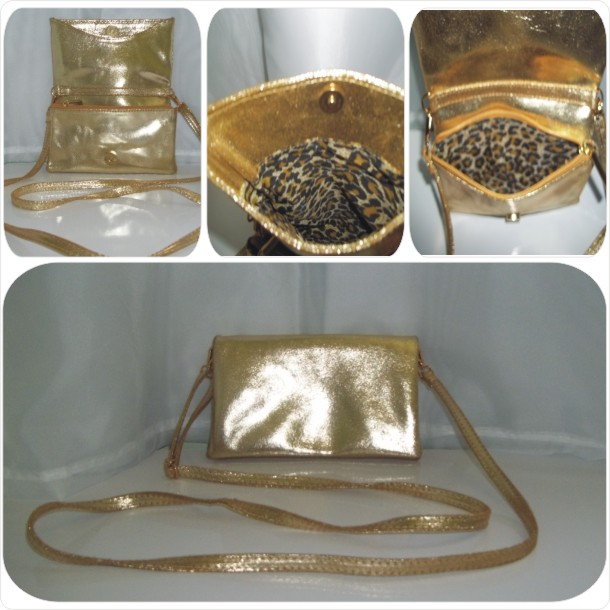 Bolsa em couro liso: Cód.1053