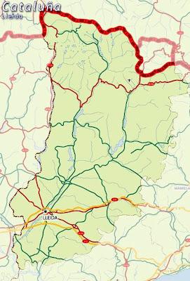 Lleida Mapa Ciudad de la Región