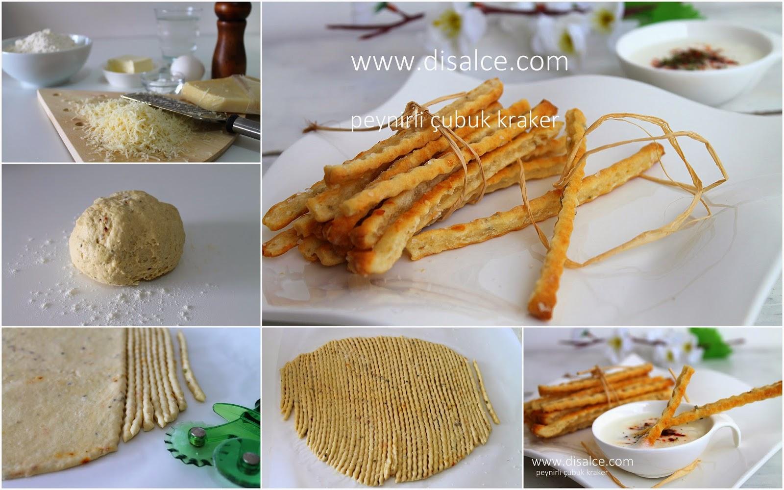 ev yapımı peynirli çubuk kraker