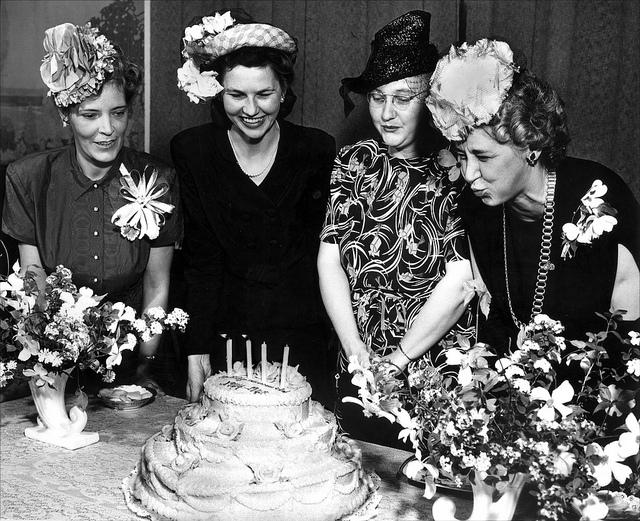 birthday cake hat vintage