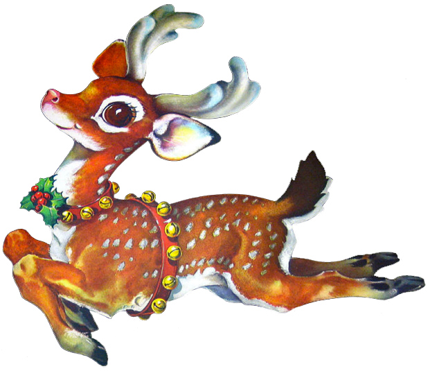 Christmas reindeer clipart - photo#7