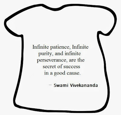 Infinite patience, infinite purity, and infinite perseverance, are the secret of success in a good cause.