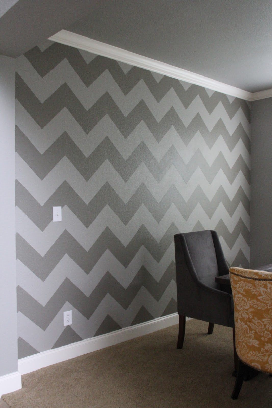 The chronicles of ruthie hart diy chevron wall for Chevron template for walls