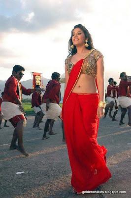 south Indian hot saree navel