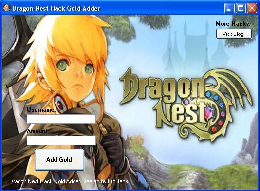Dragon Nest Hack Gold Adder Download