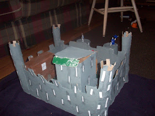 Completed paper mache castle! The Keep