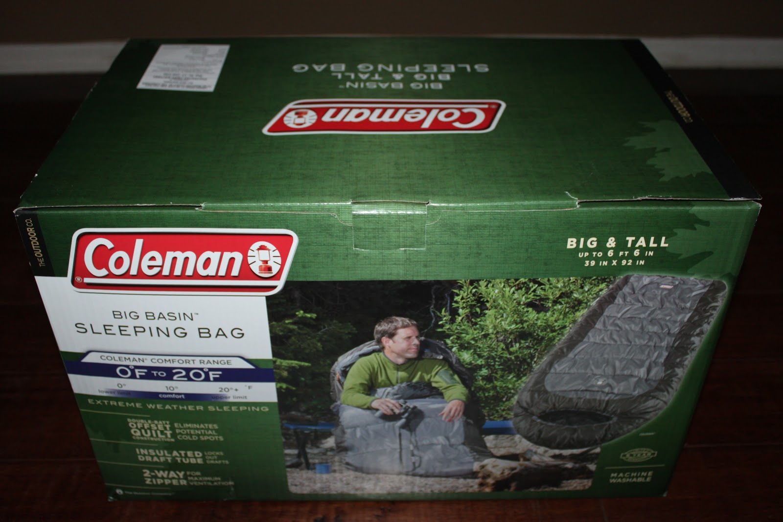 Up For Review Today Is One Of Their Mummy Style Sleeping Bags The Big Basin Extreme Weather Bag