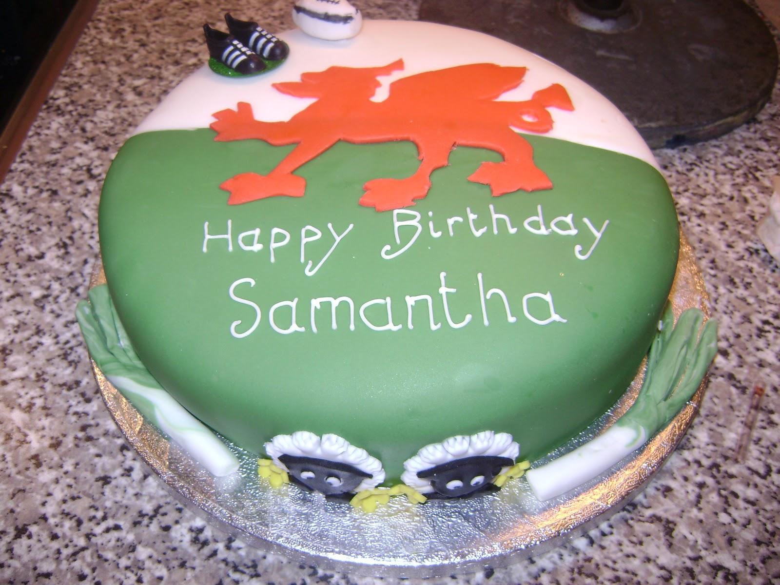 Caroline Jane Cakes: Welsh Theme Cake