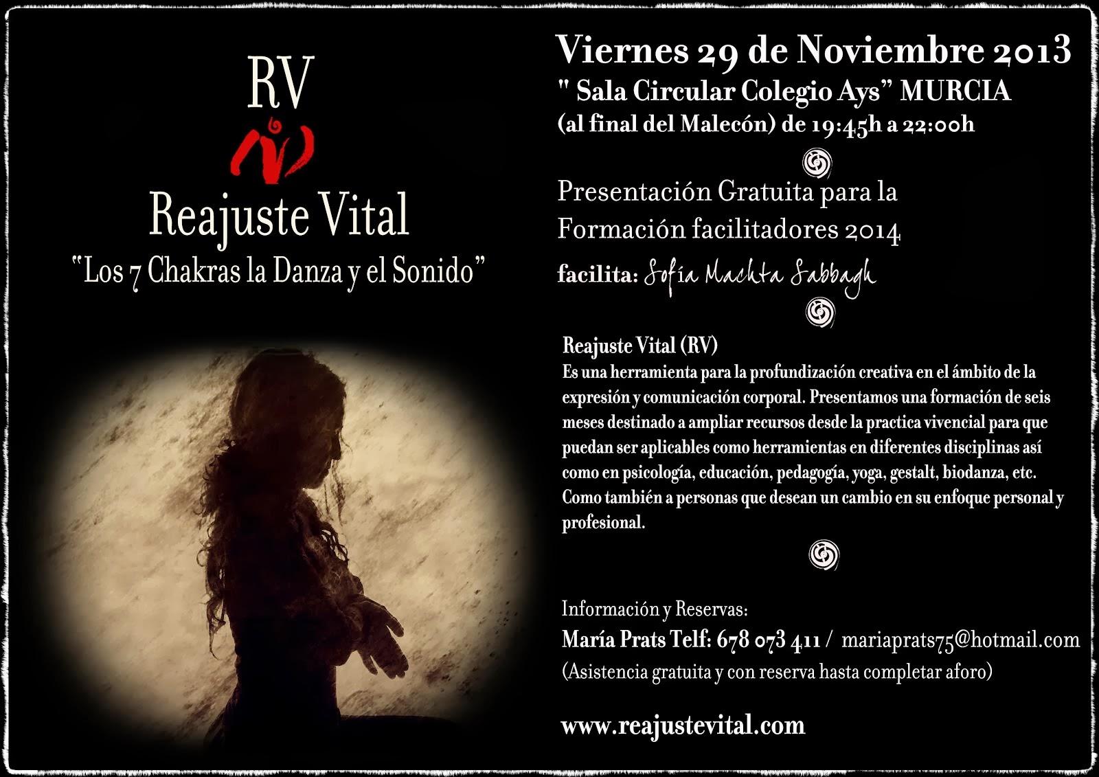 Presentación en Murcia 29 de Noviembre del 2013