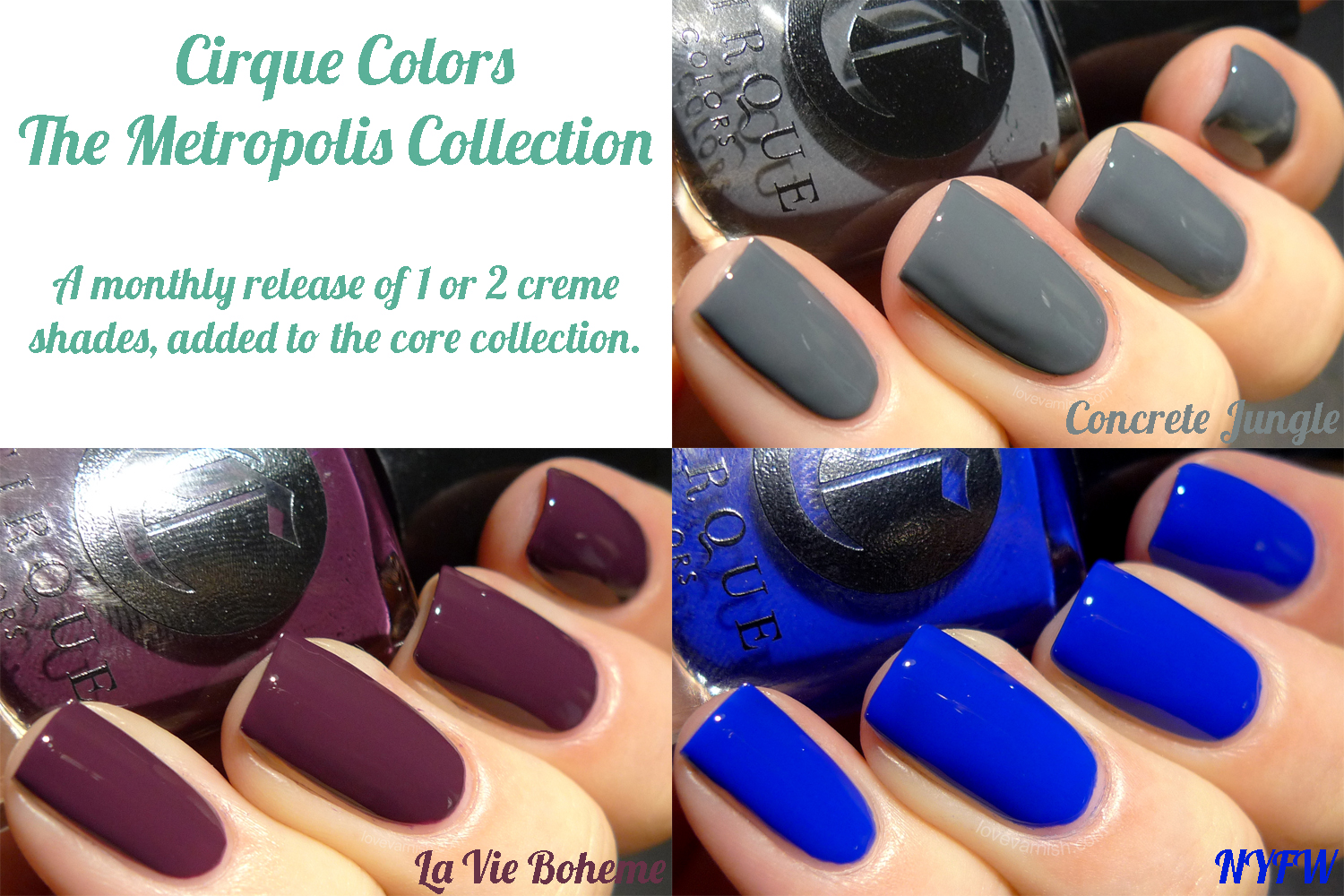 Love Varnish: Swatches & Review - Cirque Colors The Metropolis ...