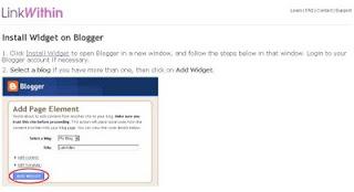 Tutorial Cara Pasang LinkWithin Di Blog
