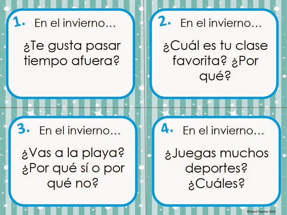 6 Ways to Use Task Cards in Spanish Class - Island Teacher