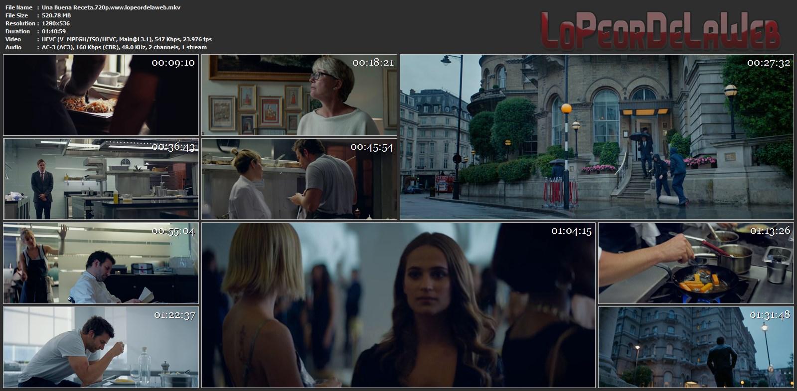 Una Buena Receta BRrip 720p Latino (2015) [Mega]