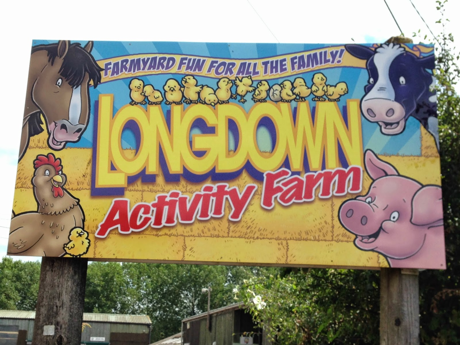Longdown Activity Farm sign