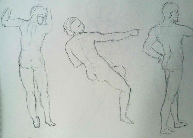 dibujo de desnudo rafael