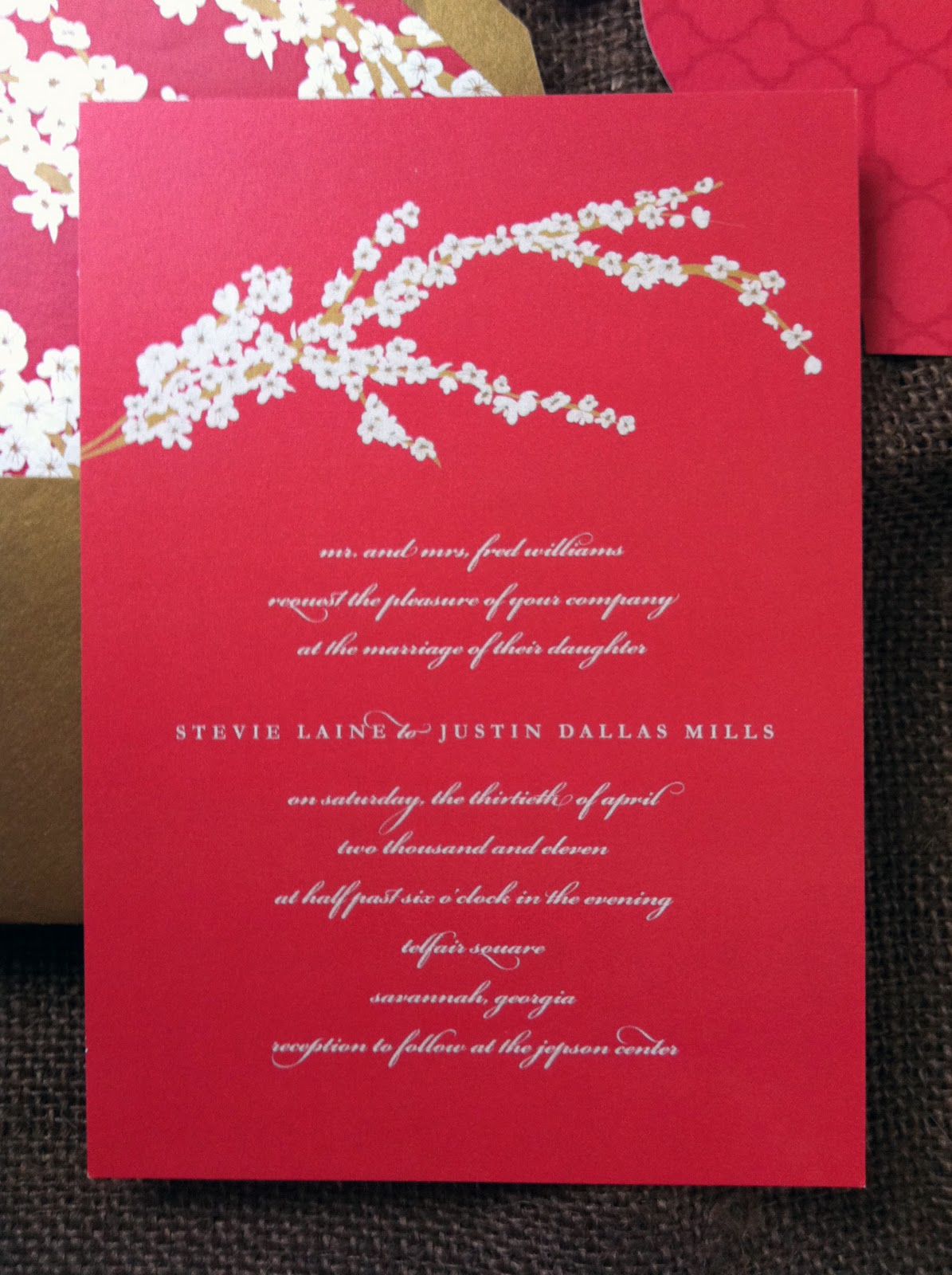 Dogwood Blossom Wedding Invitations { Savannah, GA } - emilymccarthy.com