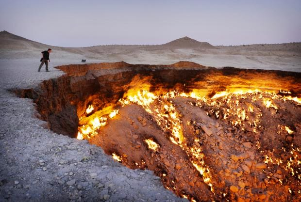 Looking into the Door to Hell