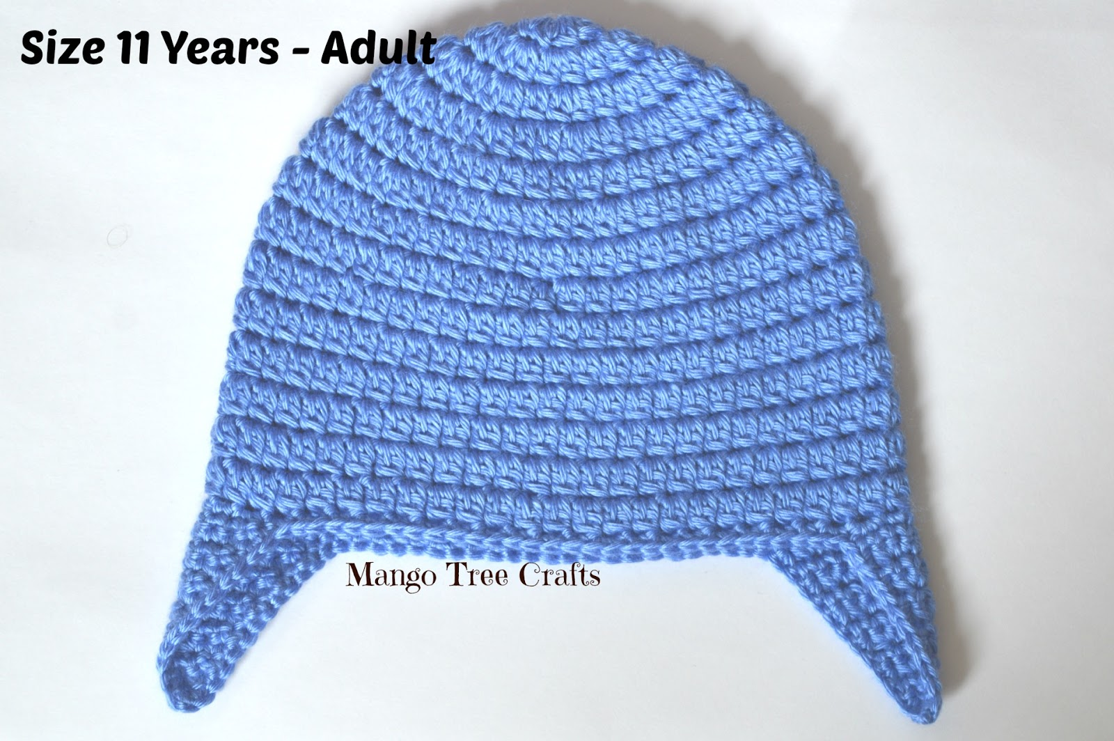 Basic Crochet Ear Flap Hat Pattern In 7 Sizes