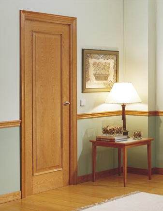 Fotos y dise os de puertas puertas de hoja moldurada Puertas metalicas usadas