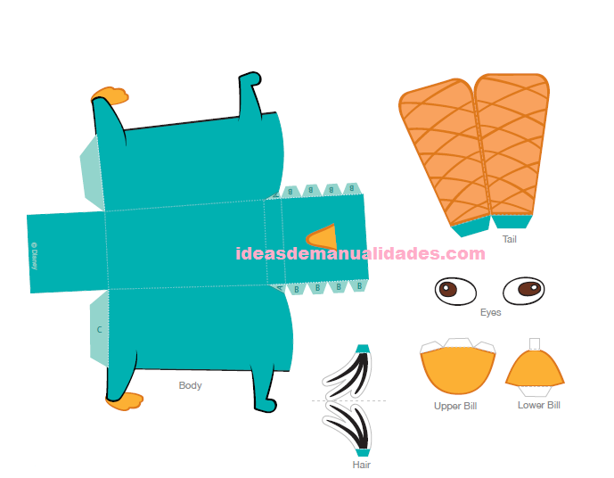 Dibujos para colorear de Perry bebé - Imagui