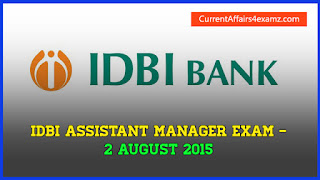 IDBI Exam 2015 Questions