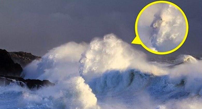 Ada Penampakan Aneh Saat Terjadi di Lautan Badai Inggris