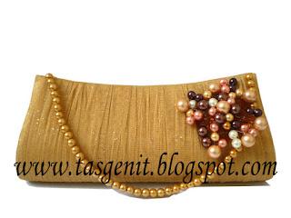 tas pesta clutch bag gold