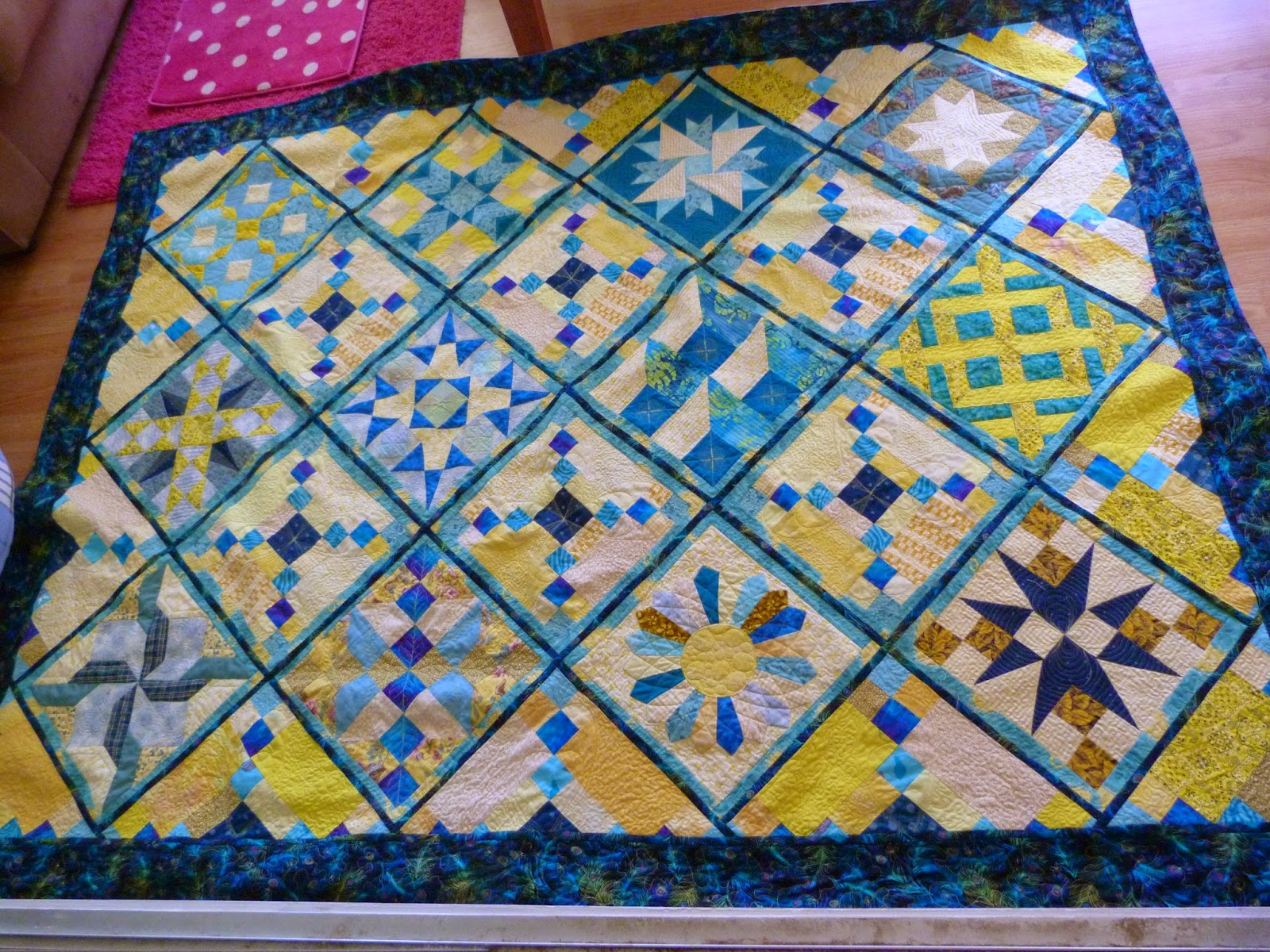 CHQuilts: Stars on Point quilt