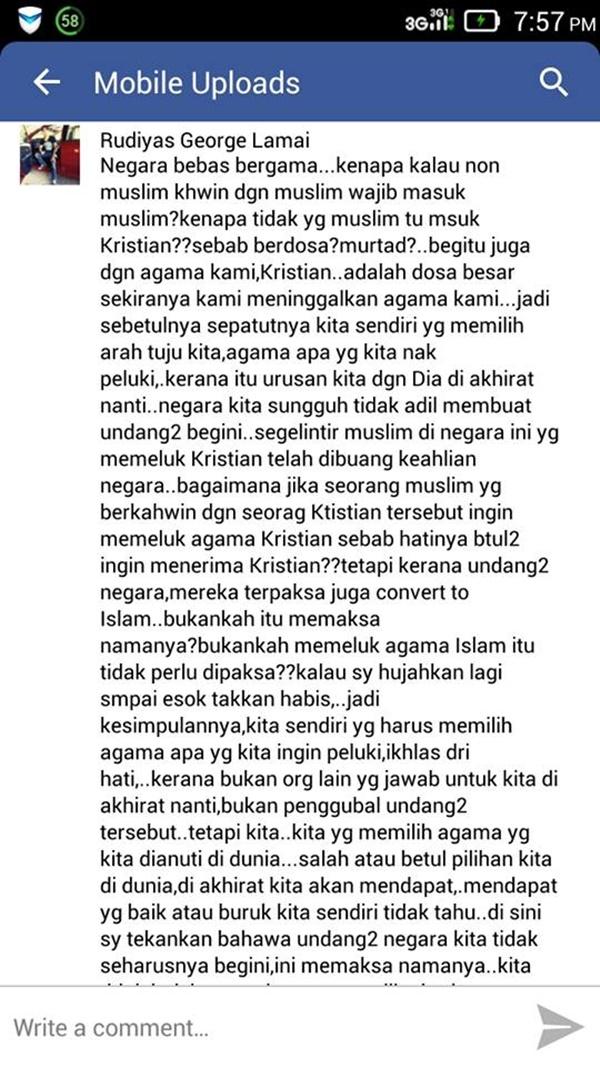 KOMEN BIKIN PANAS!! Netizen Pertikai Isu Stacy Pilih Islam