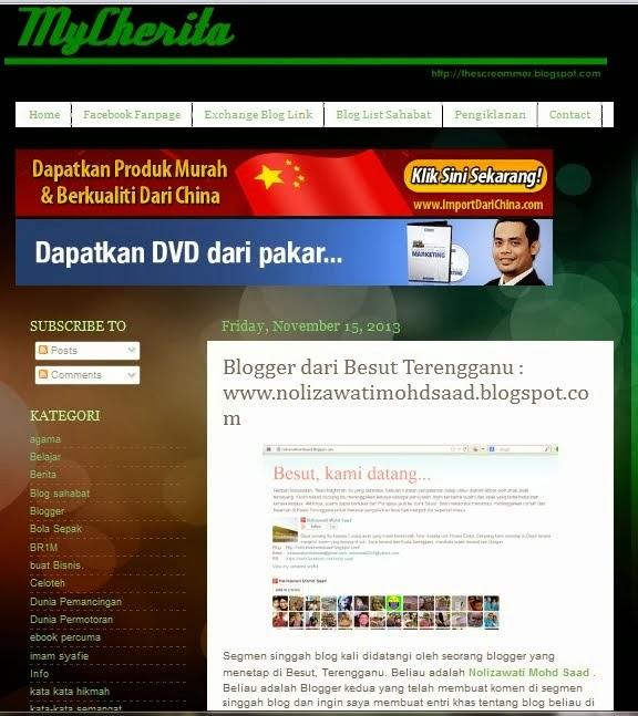 Blog saya di MyCherita