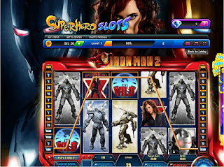 Iron Man 2 winning screeenshot at Superhero Slots with Black Widow as wild card