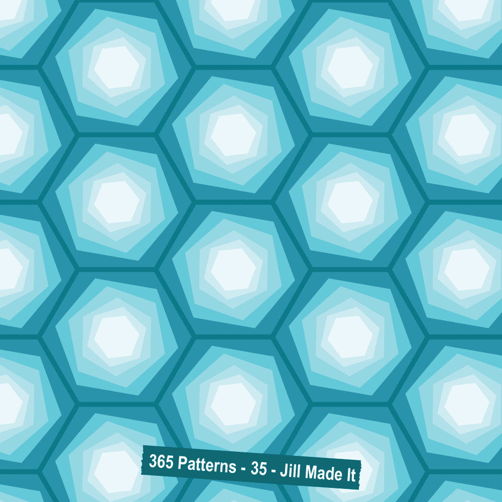 365 Patterns: Twisted Hexagons