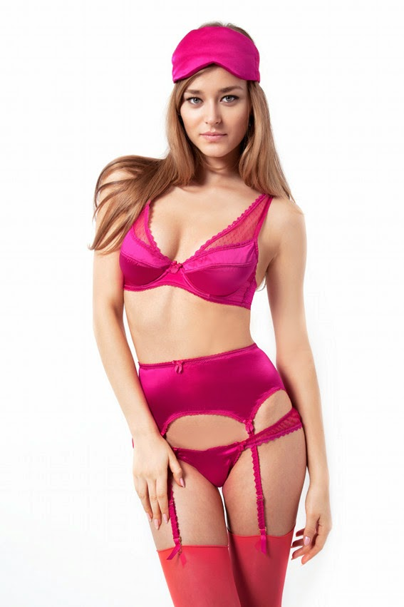 Seidendessous Raspberry Ripple von Mimi Holliday