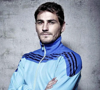 Iker Casillas with an Adidas jersey